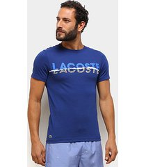 camiseta lacoste graphic masculina - masculino