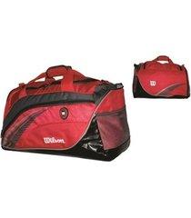 bolsa esportiva wtis13780c vermelho/cinza - wilson
