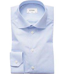 eton overhemd gestreept lichtblauw slim fit