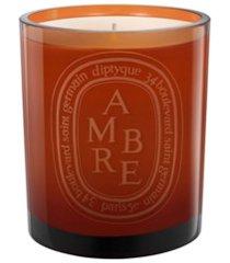 diptyque vela aromatizada 'ambre' com suporte - marrom