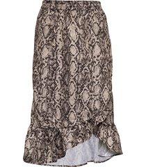 snakey chleo skirt knälång kjol multi/mönstrad becksöndergaard