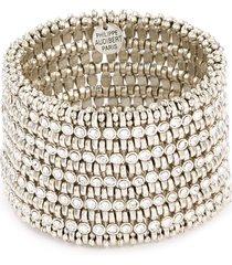 'amelia' swarovski crystal bead mini five row bracelet
