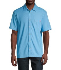 tommy bahama men's emfielder camp shirt - tide - size s