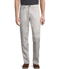 karl lagerfeld paris men's moto paneled jeans - grey - size 36