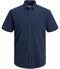 jack & jones men's cotton pique everyday short sleeve shirt