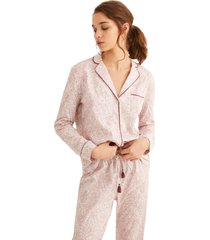pijama largo camisero estampado multicolor women secret 359711397xl