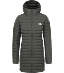 the north face jas women stretch down parka new taupe green 2020-s