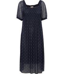 judith knälång klänning blå baum und pferdgarten