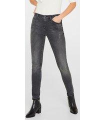 jeans skinny medium rise gris oscuro esprit