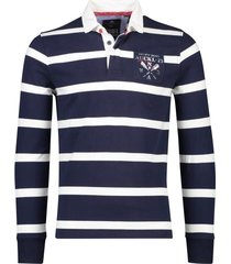 nza rugbysweater taruheru navy gestreept