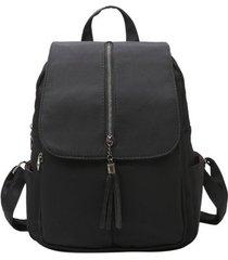 mochilas/ las mochilas de nylon de las mujeres bolso-negro