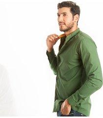 camisa frank pierce organic c2011 - verde