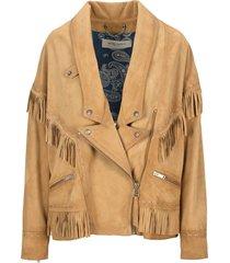 golden goose dallas fringed leather jacket