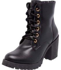 bota coturno mega boots 1407 preto