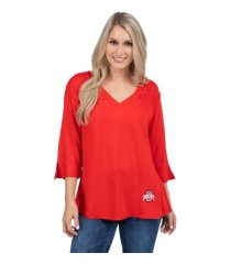 ug apparel women's ohio state buckeyes flared-sleeve blouse
