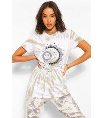 t-shirt met geverfd hemdje en sterrenprint, kaki