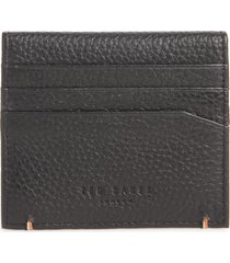 men's ted baker london leather card case - black