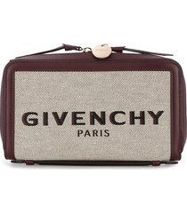 givenchy woven logo wallet - red