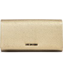 love moschino faux leather gold wallet