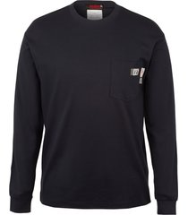wolverine men's fr long sleeve graphic tee - texas navy, size l