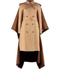 burberry cotton trench coat with cashmere insert