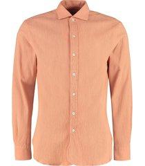doppiaa aanacapri embossed-cotton shirt