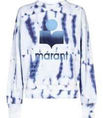 isabel marant étoile mobyli logo tie-dye print cotton sweatshirt