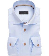 john miller shirt tailored fit stretch lichtblauw