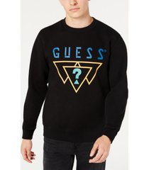 guess men's logo triangles sweatshirt