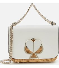 kate spade new york women's nicola wicker twistlock shoulder bag - optic white