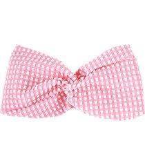 mc2 saint barth pink vichy headband