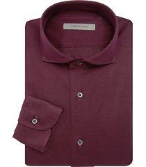 contemporary-fit pique jersey dress shirt