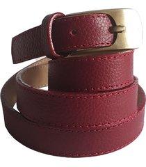 cinturón suzie rojo 100% cuero semi delgado. lk - one by one