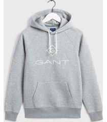 gant heren hoodie logo met zakken regular fit