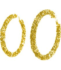 brinco amora mel argola dourado strass e critais - am158-5