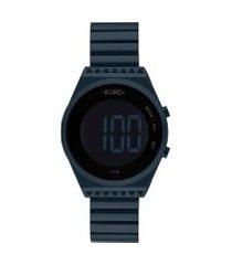relógio euro fashion fit slim feminino azul eubjt016ae/4a