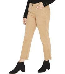 jeans pierna ancha liso camel curvi