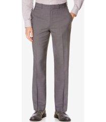 perry ellis portfolio big and tall classic-fit no iron nailhead men's dress pants