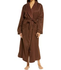women's majestic international women's sherbrooke brushed microfiber robe, size one size - brown