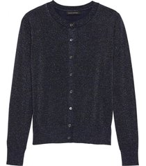 sweater merino crew lurex shine azul banana republic