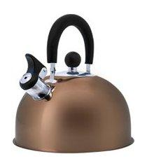 chaleira com apito e cabo articulável bronze