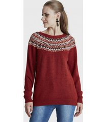 sweater con bordado terracota curvi