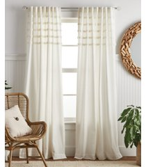 """martha stewart collection water's edge tufted 84"""" backtab panel pair"""