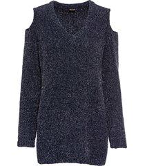 maglione in ciniglia con lurex (blu) - bodyflirt