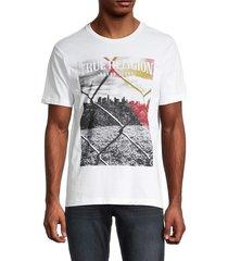 true religion men's chainlink graphic t-shirt - onyx - size l
