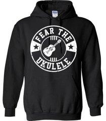 fear the ukelele blend hoodie