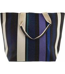 bolso azul bohemia rayado