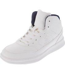 zapatos botas beverly hills polo club blanco