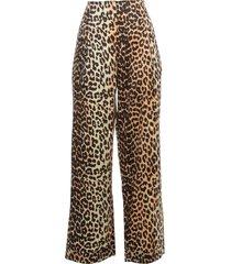 ganni silk stretch satin straight pants fantasy