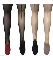 sock snob - ladies retro back seam designer sexy 40's tights sizes 8-24 uk,